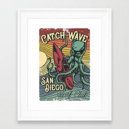 Catch the Wave Framed Art Print