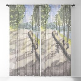 Sunshine in Da Lat Street Sheer Curtain
