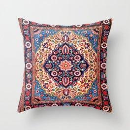 Kashan Central Persian Rug Print Throw Pillow