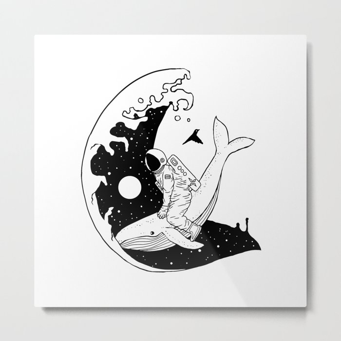 Space Wave (Take Me to the Place You've Dreamed Of) Metal Print