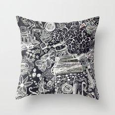 White/Black #2  Throw Pillow