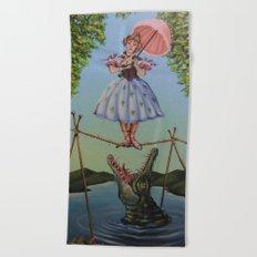 Haunted Mansion Portrait: Trapeze Girl Beach Towel