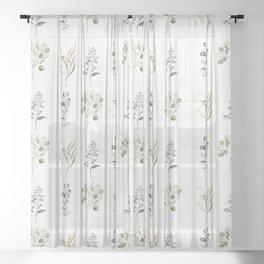 Eucalyptus Branches Sheer Curtain