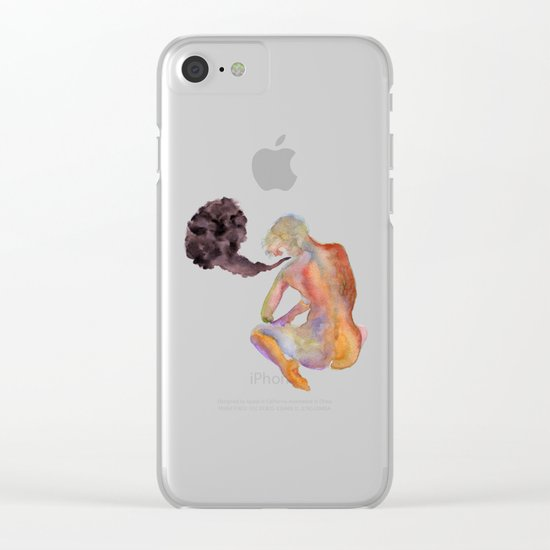 Obscure Thoughts Clear iPhone Case