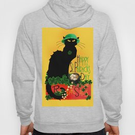 St Patrick's Day - Le Chat Noir Hoody