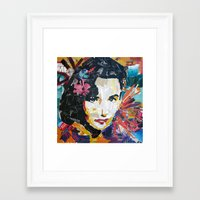 jenny liz rome Framed Art Prints featuring Liz by Phil Fung