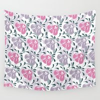 flora Wall Tapestries featuring Flora by Shelly Bremmer