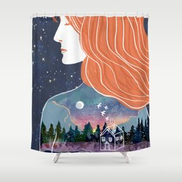 Going within Shower Curtain