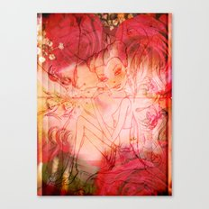 girl butterfly Canvas Print