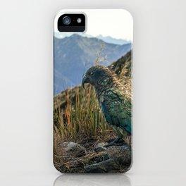 Kea, Fiordland National Park iPhone Case