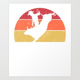 Bull Rider copy Art Print