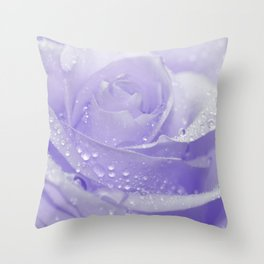 Rose with Drops 085 Throw Pillow