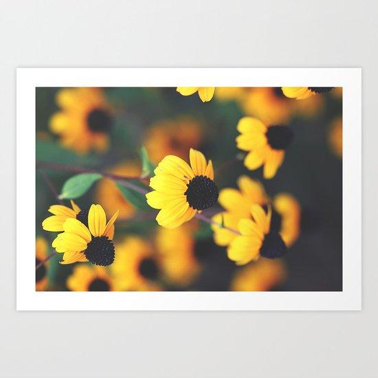Flowered Romance Art Print
