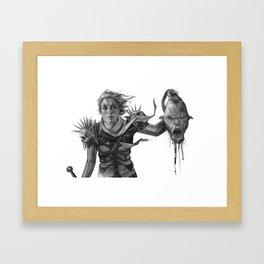 Warrior 2 Black and White Framed Art Print