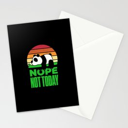 Nope Not Today Panda Funny Stationery Cards