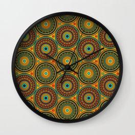 Ethnic Tribal Circular Pattern N 1 Wall Clock