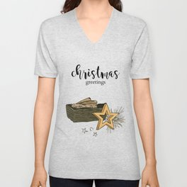Christmas composition Unisex V-Neck