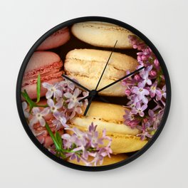 Pretty Macaroons Wall Clock