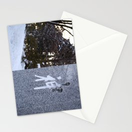 God Inscribed in Snow Stationery Cards