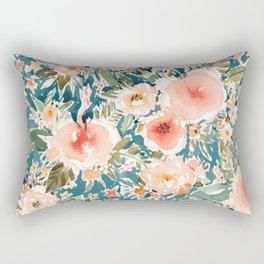 HIBISCUS NIGHTSWEATS Tropical Floral Rectangular Pillow