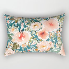 HIBISCUS NIGHTSWEATS Tropical Floral Rectangular Pillow