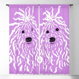 Puli (Violet and White) Blackout Curtain