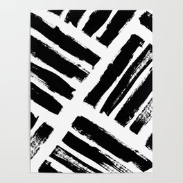 Abstract Monochrome 02 Poster