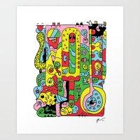ice cream Art Prints featuring Ice Cream by Rabassa