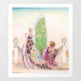 Kay Nielsen - Princess Lena And Michael, The Gardener Art Print
