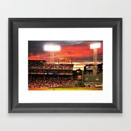 Fenway Park Sunset Framed Art Print