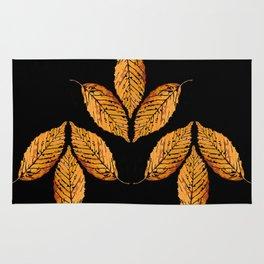leaves of fall Rug