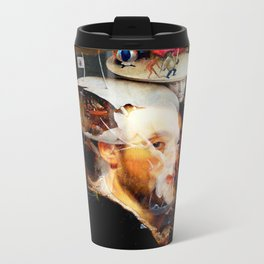 Bosch and Rubens Sandwich with a Peep of Magritte Metal Travel Mug