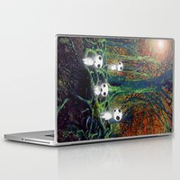 kodama Laptop & iPad Skins featuring Kodama under the tree by pkarnold + The Cult Print Shop