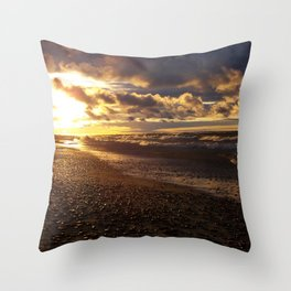 Stormy  Superior Sunset Throw Pillow