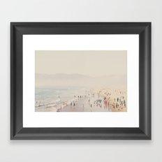 standing on the edge of the world ...  Framed Art Print