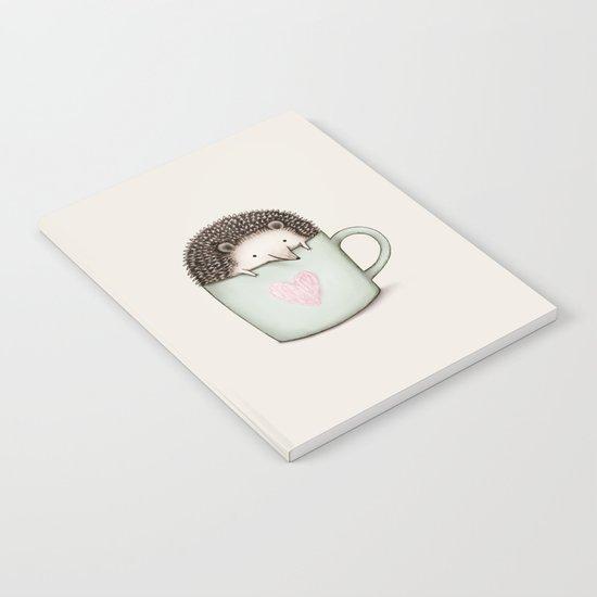 Hedgehog in a Mug Notebook