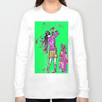 girl power Long Sleeve T-shirts featuring Girl Power by sladja