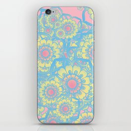 Pastel colored daisies iPhone Skin