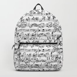 Hand Written Sheet Music Backpack