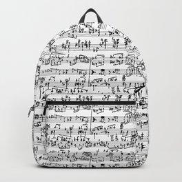 Hand Written Sheet Music Backpack