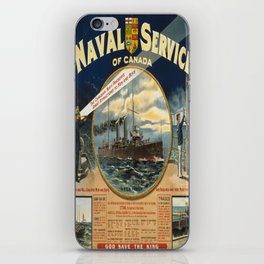 Vintage poster - Naval Service of Canada iPhone Skin