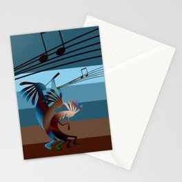 Southwest Kokopelli Music Stationery Cards