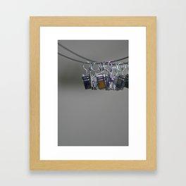 Hanging Clips Framed Art Print