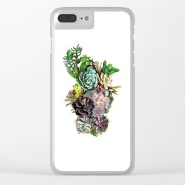 Succulent gardens Clear iPhone Case
