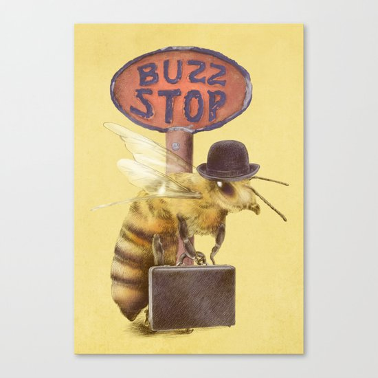 Worker Bee (colour option) Canvas Print