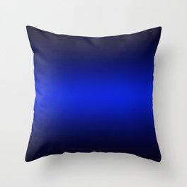 Gradient 8 black blue deepspace Throw Pillow