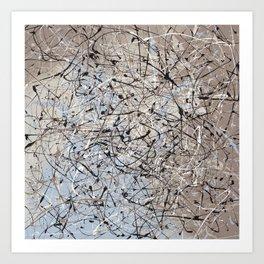 High Again - abstract painting by Rasko Art Print