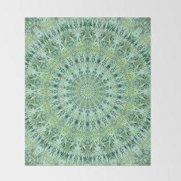 Mary Jane Mandala (green) Throw Blanket