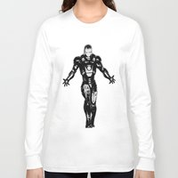 ironman Long Sleeve T-shirts featuring Ironman by Bee Artsy