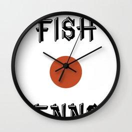 Shaved fish Wall Clock